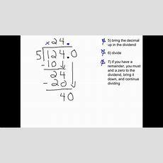 Dividing Decimals (decimal In Both Dividend & Divisor) Youtube