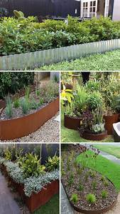 21, Brilliant, U0026, Cheap, Garden, Edging, Ideas, With, Pictures, For, 2020