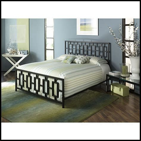 Bed Frame Headboard Footboard by Contemporary Metal Size Bed Frame W Headboard