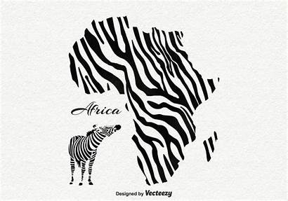 Africa Vector Background Zebra Clipart Vectors Silhouette