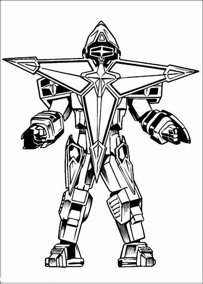 Rangers Coloring Power Megazord Colorir Drawing Coloriage