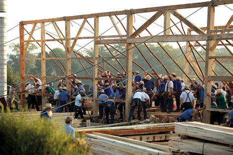Amish Barn Raising by Mwr Amish Population Grows In Ohio And Elsewhere