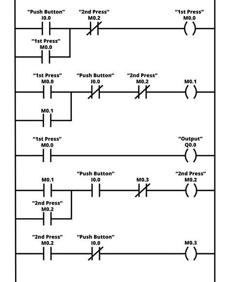 Single Push Button Off Logic Example Electronics