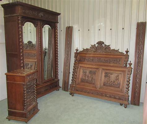 carved oak bedroom furniture antique bedroom furniture