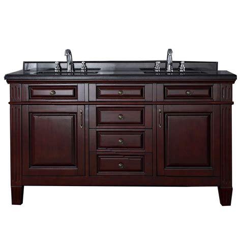 granite top vanity carsen 60 in vanity in chocolate with granite vanity top