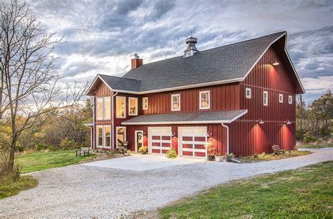 Custom Barns by A Lifetime Of Barns Inspires A New Custom Home