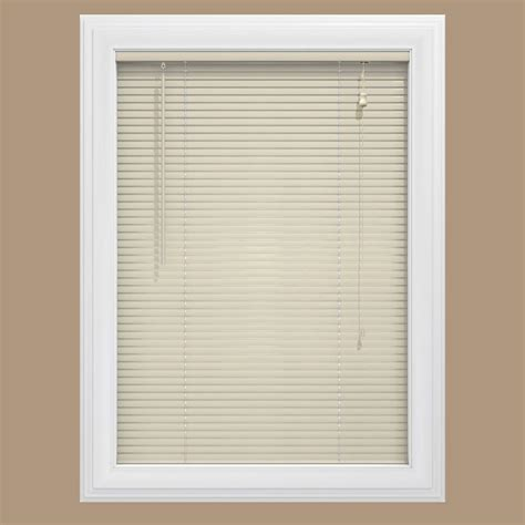 home depot l shades alabaster cordless 1 in vinyl mini blind 35 in w x 72