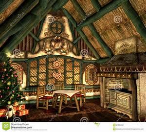 Xmas Cottage Stock Illustration Image Of Ornaments