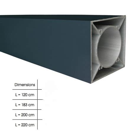poteau en aluminium palissade ideal composite et alu de fiberdeck b a bois