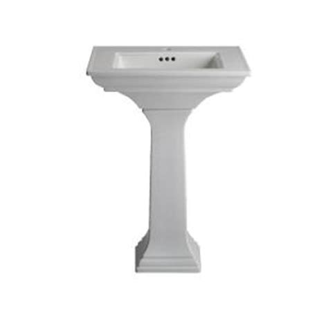 kohler memoirs pedestal combo bathroom sink in white k