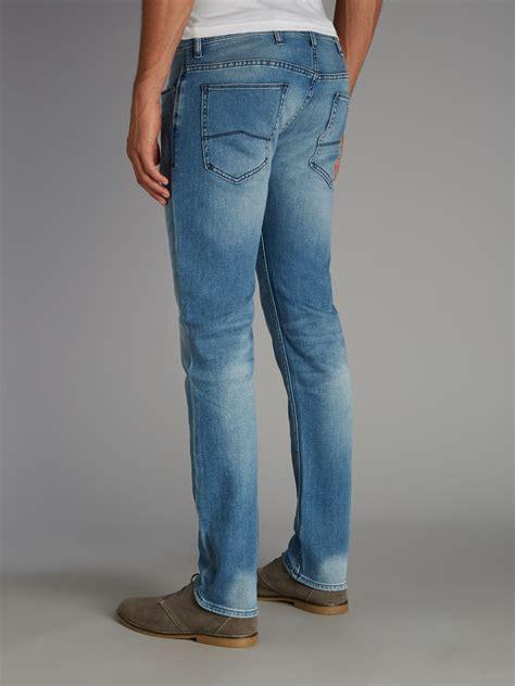 light blue jeans mens slim fit armani jeans light wash slim fit jean in blue for men lyst