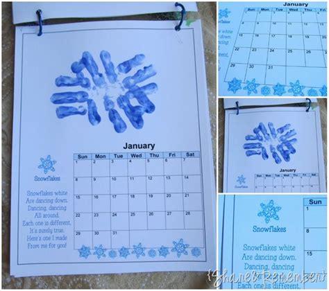 handprint calendar template printable print