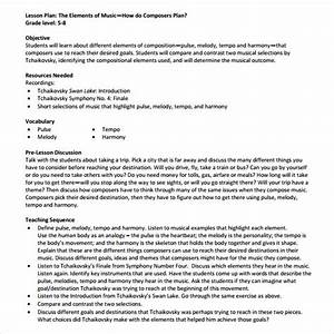 8 sample music lesson plans sample templates With examples of lesson plan templates