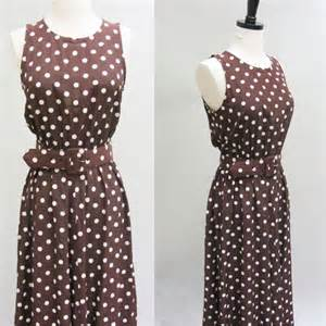 pretty woman brown polka dot dress vintage 1990s by