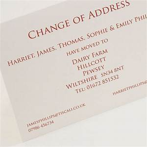 classic change of address cards by this is nessie With change of address announcements postcards