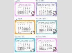 Hello Kitty 2018 Printable Calendar – 2018 Calendar Template