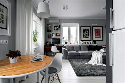 Large Comfortable Sofa by Small Apartment In A Scandinavian Style Of Life And