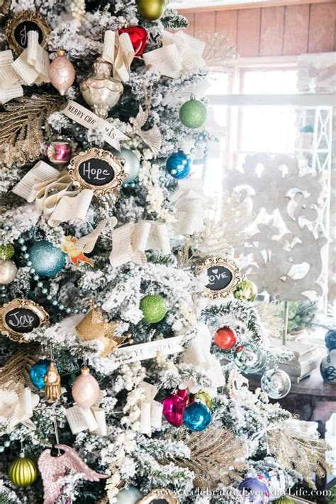 decorating tiny chic tree how to decorate a flocked shabby chic tree celebrating everyday with