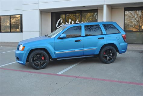 matte light blue jeep matte blue metallic jeep grand cherokee color change wrap