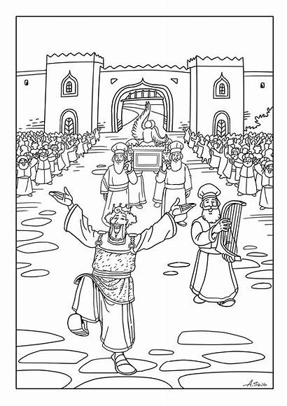 Coloring Ark David Jerusalem Brings Covenant Pages