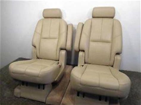 replacement gm tahoe rear heated oem leather bucket seats