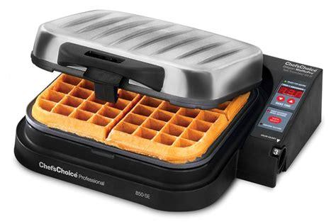 chefs choice model  se wafflepro taste texture belgian waffle maker cutlery