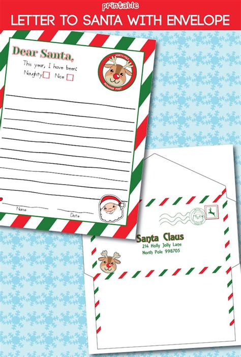 printable letter to santa with the rainy day letter to santa free printable free printable envelopes 61211
