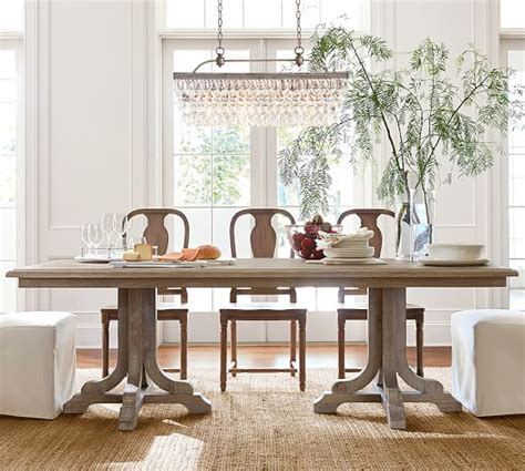pottery barn dining room linden fixed table pottery barn