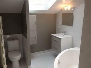 Salle De Bain 5m2 : salle de bain parisienne lumineuse 5m2 baignoire angle wc ~ Dailycaller-alerts.com Idées de Décoration