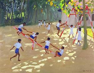 Playground Sri Lanka Painting by Andrew Macara