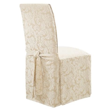 sure fit slipcovers chair sure fit scroll dining room chair slipcovers target