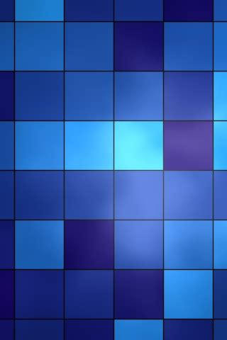 cube iphone 4 4s blue blocks abstract free