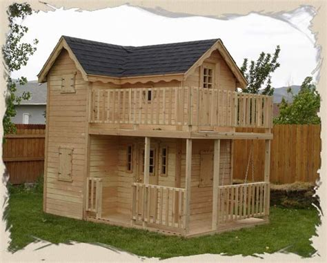 double decker playhouse plans childs outdoor wood