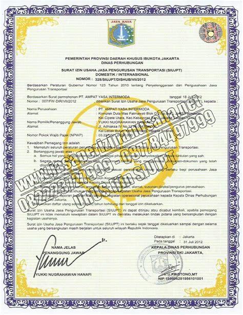 siujpt surat izin usaha jasa pengurusan transportasi