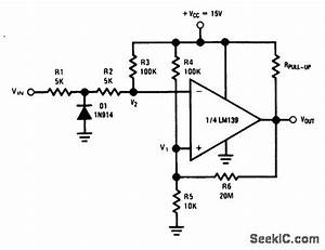 Zero Crossing Detector For Squaring A Sine Wave - Electrical Equipment Circuit