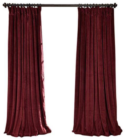 signature burgundy blackout velvet curtain single panel