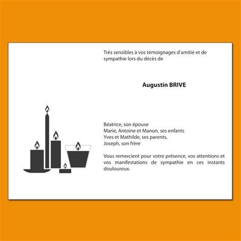 modele carte remerciement deces carte de remerciement de d 233 c 232 s avec composition bougies