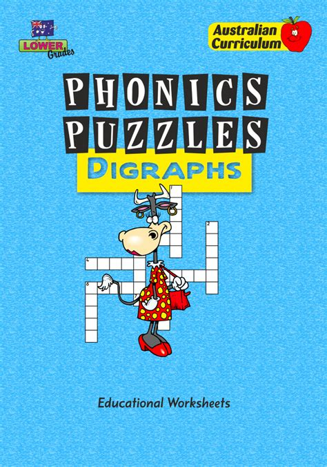 phonics puzzles digraphs educational worksheets