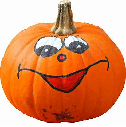 Transparent Orange Clipart Pumpkin Funny Painted Face