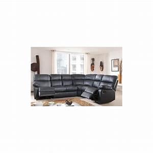 canape d39angle demi cuir avec 2 relax panel meuble With tapis d entrée avec canapé demi angle