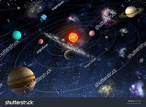 Diagram Planets Solar System Stock Illustration 1827206