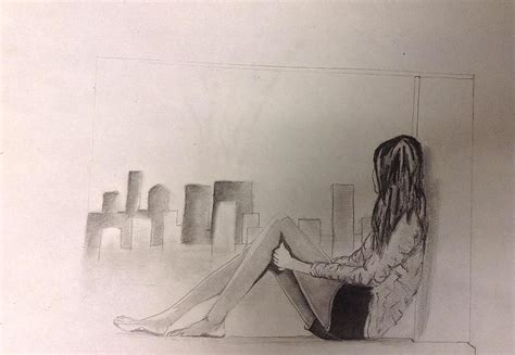 shower curtains lonely drawing by atkinson