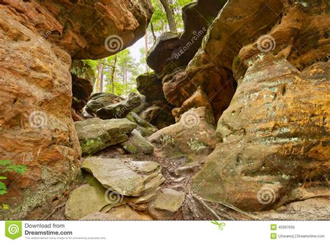 ziemski piękno piekło skały blisko nieklan polska zdjęcie