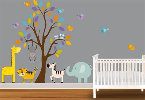 chambre de bébé jungle decoration chambre bebe theme jungle deco maison moderne