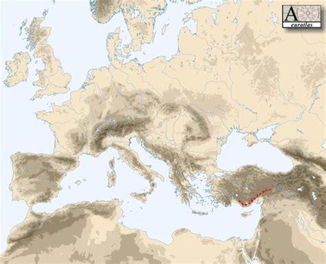 physical atlas  europe mountains  europe taurus