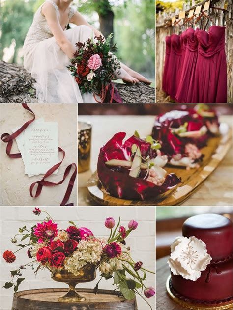 Weddings by Color: Shades of Cranberry + Brown + Gold