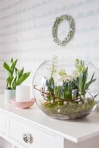 Deko Vasen Mit Blumen : fr hlingserwachen mit blumenzwiebeln dekorieren ~ Markanthonyermac.com Haus und Dekorationen