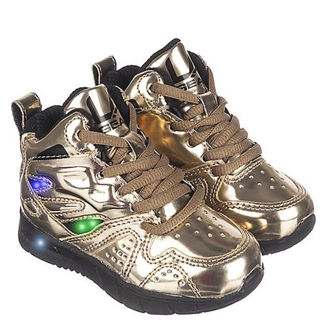 la gear light up shoes la gear l a lights toddler gold sneaker shiekh shoes