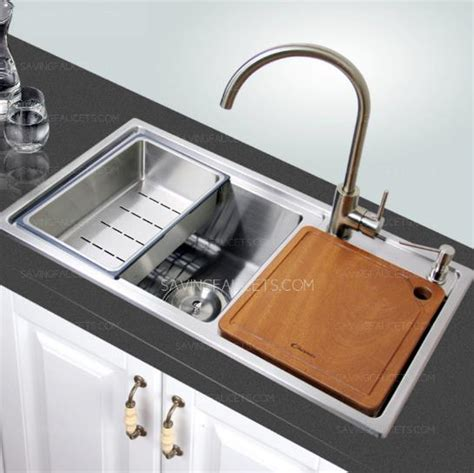good large capacity double bowl kitchen sinks and faucet
