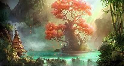 Tree Fantasy Landscape Scenery Nature Savior Artwork